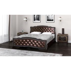 """Кровать """"Карина-10"""" орех темный, бриллиант 120*200см"""