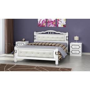 """Кровать """"Карина-11"""" белый жемчуг 140*200см"""