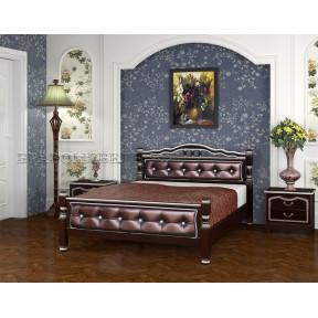 """Кровать """"Карина-11"""" орех темный бриллиант 120*200"""