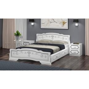 """Кровать """"Карина-6"""" белый жемчуг, с ящиками 90*200см"""