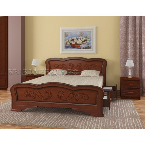 """Кровать """"Карина-8"""" орех, с ящиками 120*200см"""