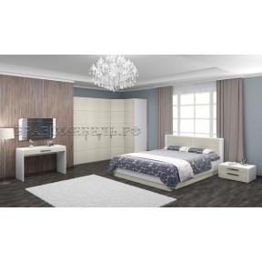Модульная спальня Вива платина/белый глянец