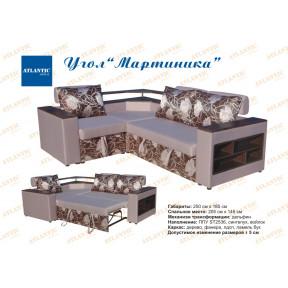 """Угловой диван """"Мартиника"""" накладки дсп"""