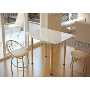 Стол обеденный белый глянец БТС