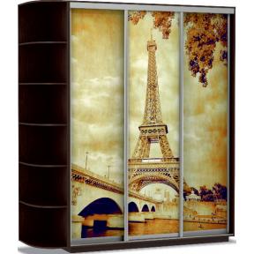 Шкаф-купе Трио Фото Париж 180_60_220